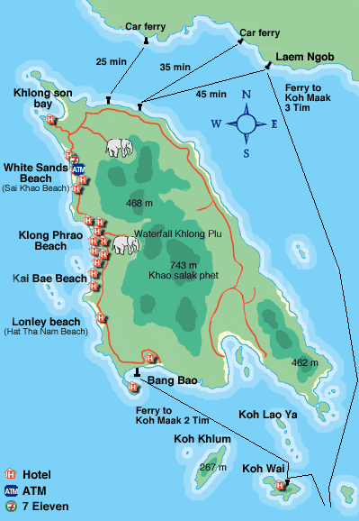 Koh Chang | Map