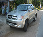 Car Hire -  Isuzu 4x4 pick up